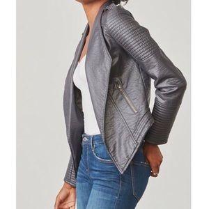 Jack bb Dakota quilted vegan leather moto jacket